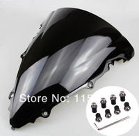 Black Motorcycle Windshield WindScreen Case for Yamaha R6 2003 2005 YZF R6 03 05