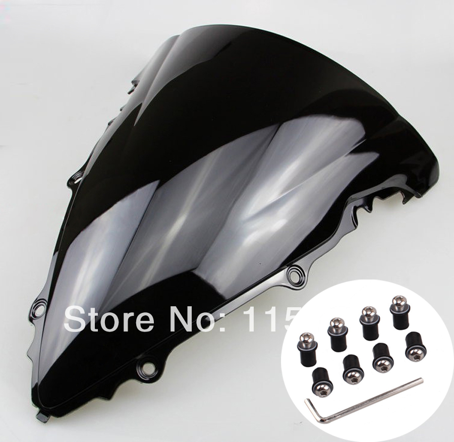 Black Motorcycle Windshield WindScreen Case for Yamaha R6 2003-2005 YZF-R6 03-05 motorcycle front light headlight head lamp for yamaha yzf r6 yzfr6 yzf r6 2003 2004 2005 03 04 05