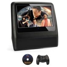 2pcs Car DVD Player 9 Inch Black TFT Touch Screen Car Headrest Monitor  720P/IR/SD/Speaker Car Pillow Decor+Game pad