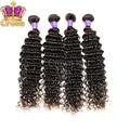 Brasileiro virgem cabelo profunda curly 8 - 30 polegada 100% cabelo virgem brasileiro cabelo weave preto natural
