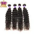 Brazilian virgin hair deep curly 4pcs lot free shipping 8-30inch 100% human hair weave natural black brazilian curly virgin hair