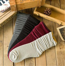 A Pair Women Cotton Socks Brief Fashion Solid Between Ankle and Knee Sock Casual Women s