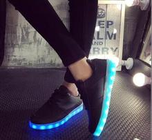 2016  Colorful glowing Men shoes with lights up led luminous shoes a new simulation sole led men shoes for adults neon basket