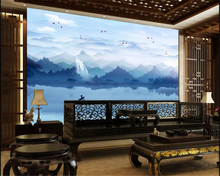 beibehang Fashion advanced wallpaper beautiful mood landscapes new Chinese style backdrop decorative painting3d tapety
