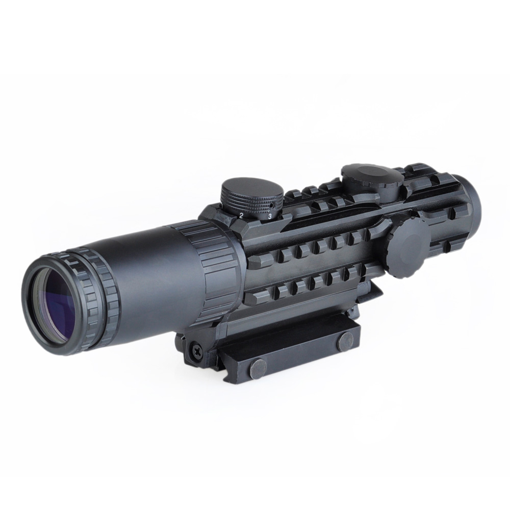 WIPSON Aim optical sight Airsoft 1-3x28 Riflescope Yellow Illuminated Rangefinder Reticle Shotgun Air Hunting Scope Lens Cover discovery vt t 4 5 18x44sfvf white leters reticle side shooting hunting riflescope rangefinder for airsoft air guns