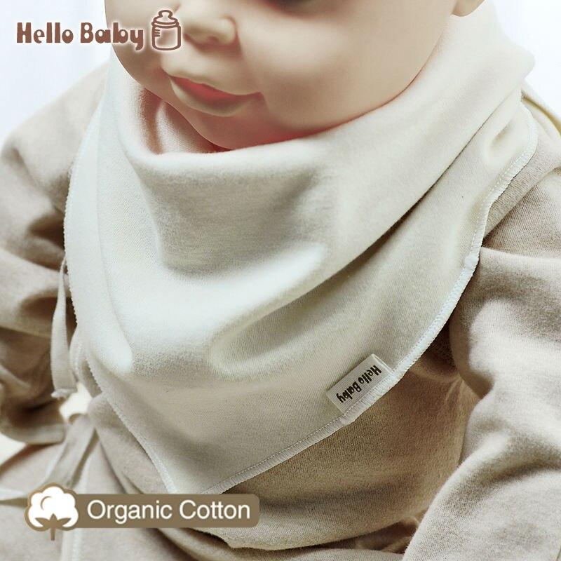 Hellobaby Baby Bibs Kids Soft Organic Cotton Bandana Newborn Toddler Triangle double layer Scarf Infant Burp Cloths Saliva Towel