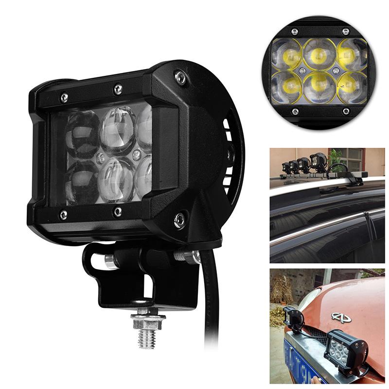 Prix pour 4 Pouce 30 W Voiture LED Light Work Offroad Conduite Brouillard Lampe De Voiture moto Vélo SUV ATV 4WD 4X4 UTE Auto UTV Spot Flood Phare