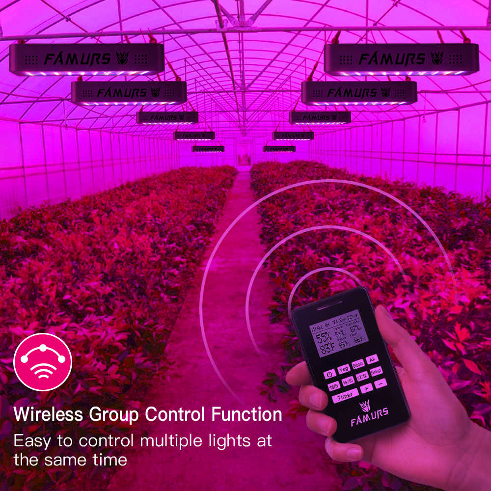 Famurs led grow light 5 шт. 1000 Вт полный спектр Veg/Цветение таймер группа дистанционное управление лампа для растений Крытый Фито лампа растут палатки