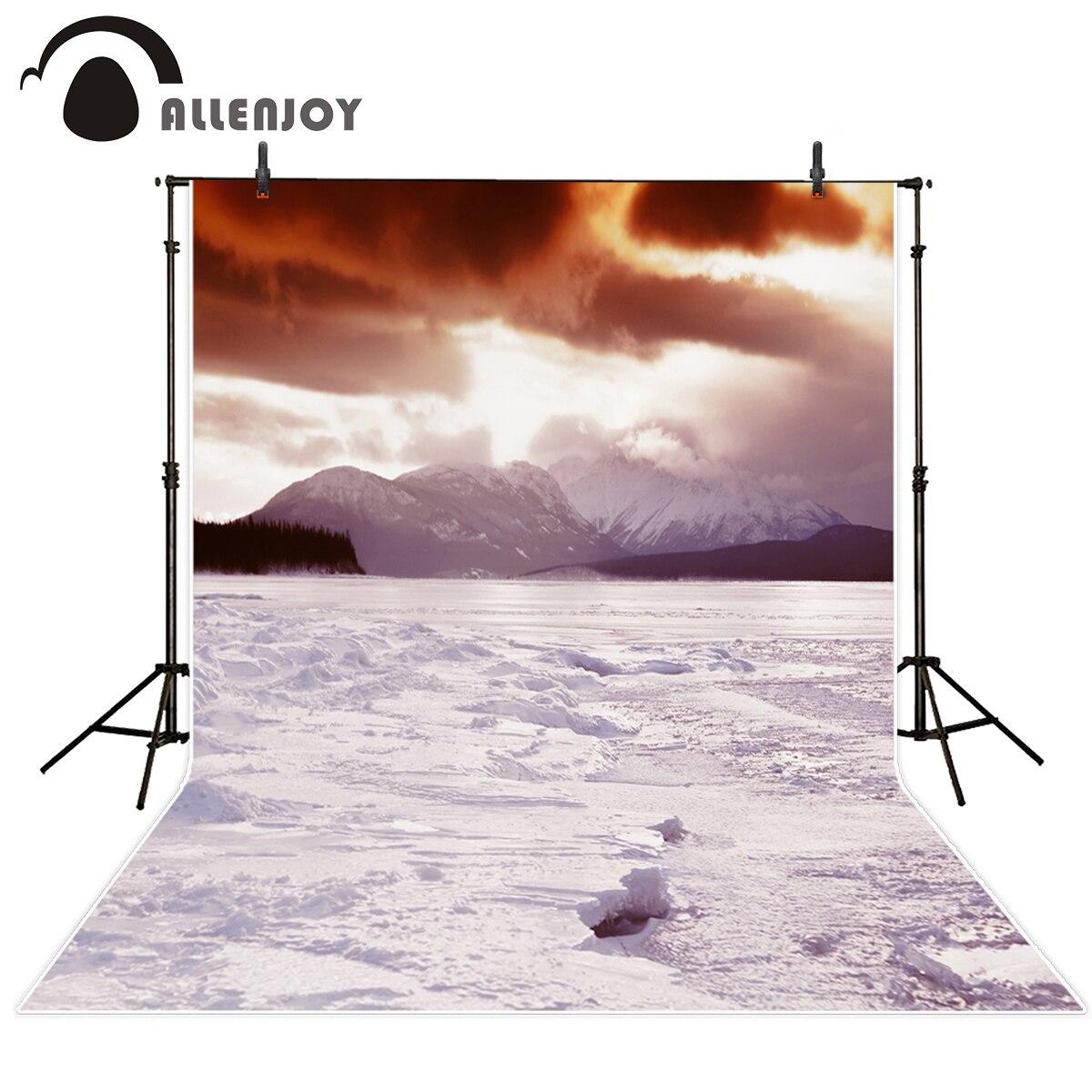 Allenjoy nhiếp ảnh nền tuyết leo núi đồng bằng khung cảnh thiên nhiên mùa đông ảnh nền vinyl nhiếp ảnh studio chuyên nghiệp trong Allenjoy nhiếp ảnh nền ...