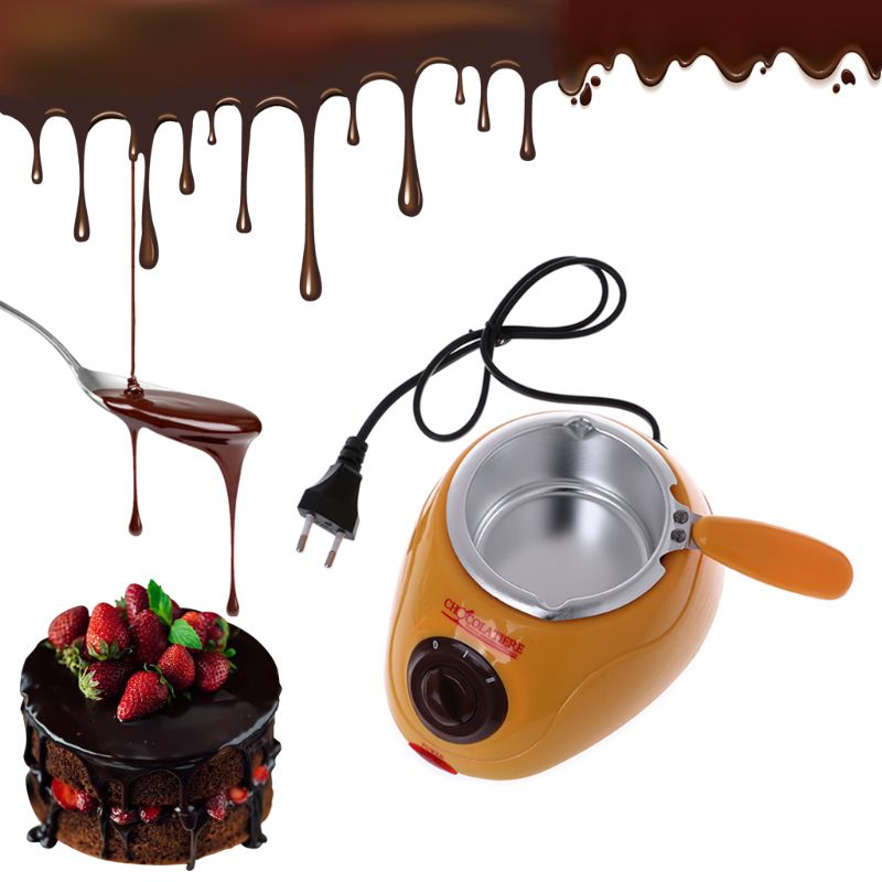 Electric Heating Chocolate Candy Melting Pot Fondue Fountain Machine Kitchen Baking Tool