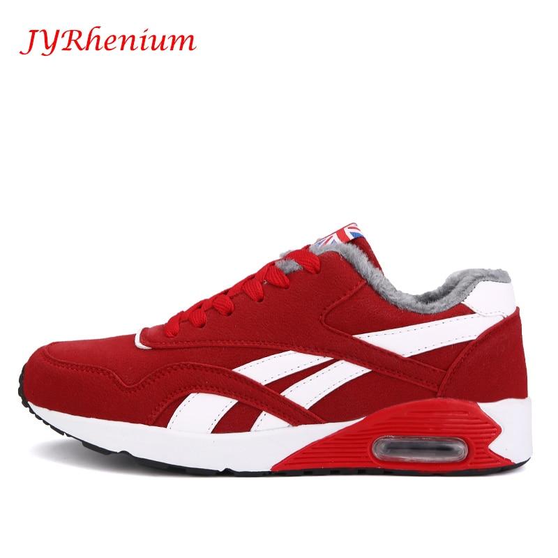 JYRhenium New Winter Mens Boots Warm Wool Sneakers Outdoor Unisex Athletic Sport Shoes Running Shoes Sale Sports Men Sneakers