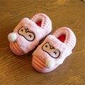 Зима новый детская обувь дети тапочки милый мультфильм отцовства тапочки дети теплый хлопок тапочки зимняя обувь мальчиков обувь для девочек
