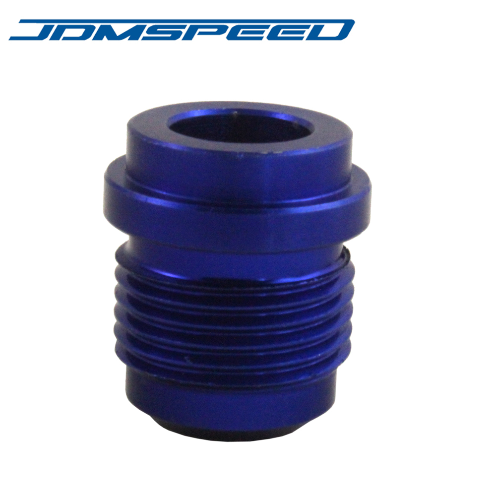 BLUE New JDMSPEED AN10 AN 10 # 10 Male Billet Adapter Aluminum Weld On Bung Fitting