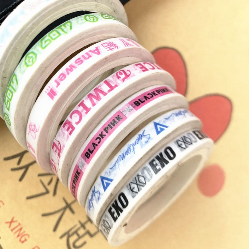 Kpop Bts Decorative Washi Tape Paper Masking Tape Exo Twice Wanna One Diy Scrapbooking Adhesive Diary Paper Stickers Office Adhesive Tape Tapes, Adhesives & Fasteners