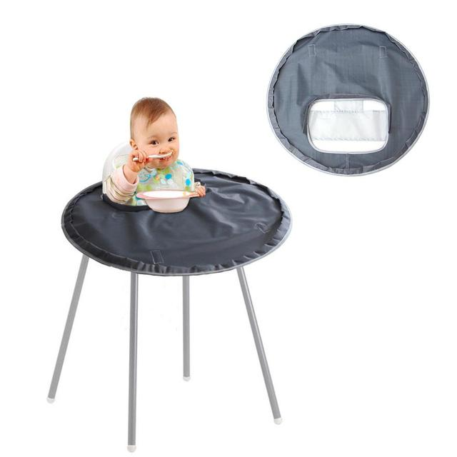 High Chair Table Cover Armed Accent Chairs Baby Eating Mat Feeding Saucer For Kids Highchair Germ Prevents Food Toys Falling To Floor