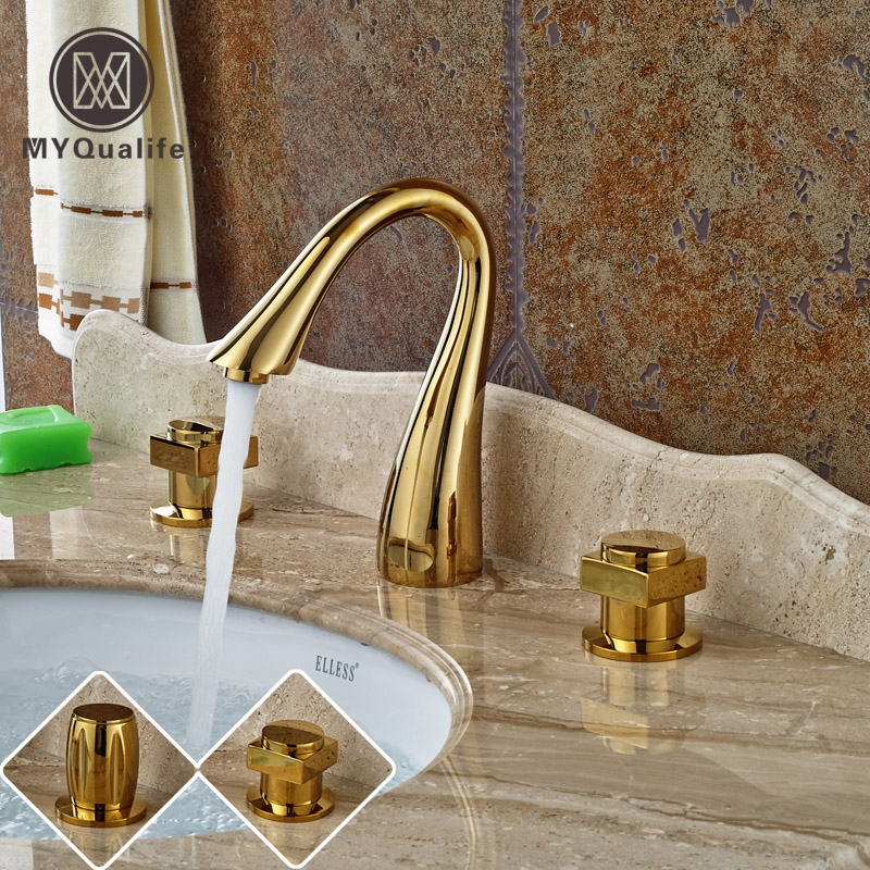 Modern Goose Neck Widespread Bathroom Sink Mixer Faucet Dual Handle 8 Inch 3 Hole Washing Basin Water Taps парка canada goose 3811l 49