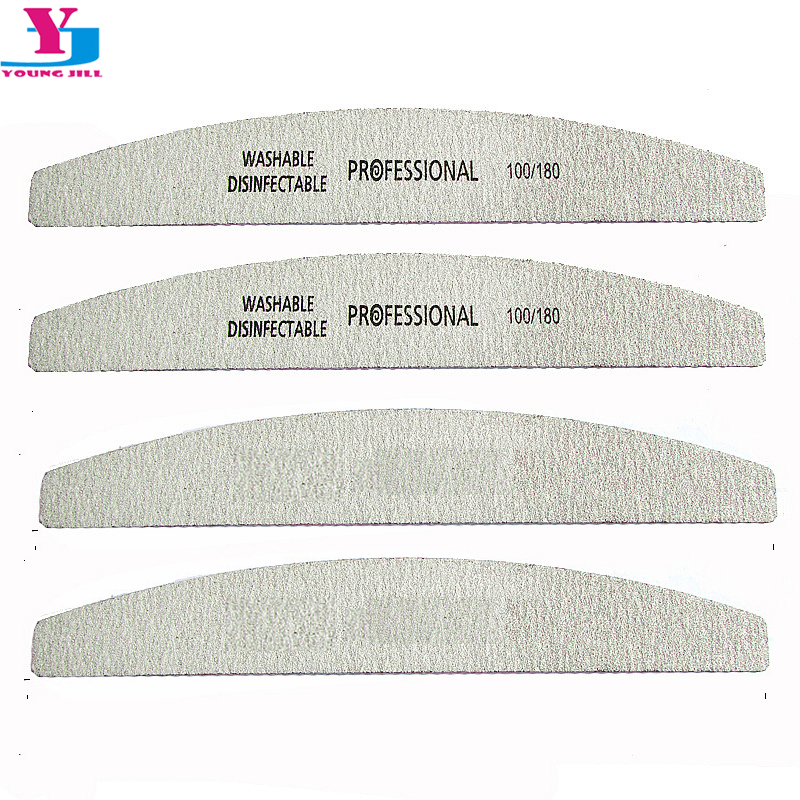 High Quality 5pcs Boat Grey Sanding Nail Files Buffer Disposable 100/180 UV Gel Curve Banana For Nail Art Tips Manicure Set