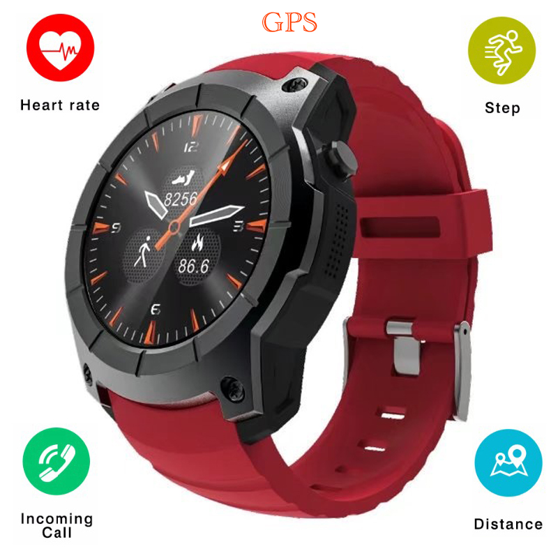 2018 S958 Smart Watch Fitness Tracker GPS Sport Pedometer Smartwatch Support SIM TF Card Heart Rate Sports Waterproof Wristwatch fs08 gps smart watch mtk2503 ip68 waterproof bluetooth 4 0 heart rate fitness tracker multi mode sports monitoring smartwatch