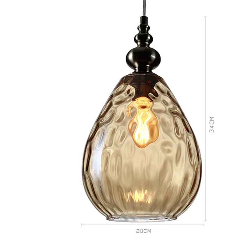 Lustre Vintage Glass Pendant Light Loft Lampen Retro Pendant Lamp Coffee  Droplight Dinning Room HangLamp Suspension Luminaire In Pendant Lights From  Lights ...