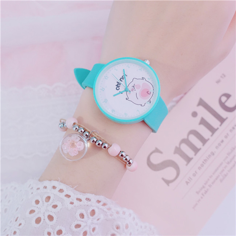 Cartoon Pig Watches Kids Lovely Jelly Gifts Dropshippinp Children Wristwatch New Trend Top Sell Minimalist Casual Montre Enfant