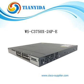 New Sealed WS-C3750X-24P-E Catalyst C3750X 24 Port PoE Gigabit Ethernet Switch Free shipping