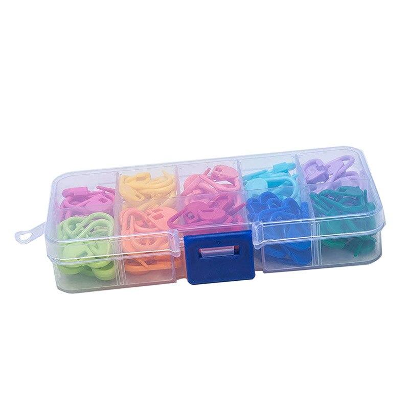 120 Pcs/Set Amazing Knitting Crochet Locking Stitch Needle Clip Markers Holder Tool Plastic  Store