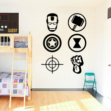 hot deal buy romantic the avengers wall stickers decorative sticker home decor for kids rooms diy home decoration home party decor wallpaper