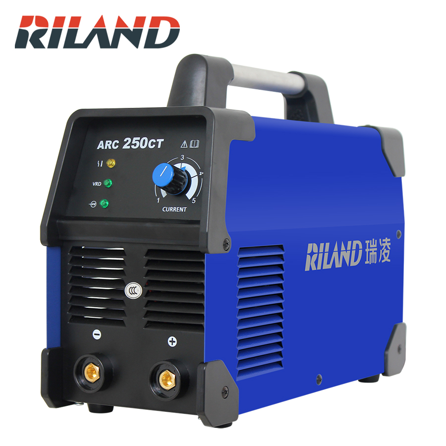 RILAND ARC 250CT Mini Portable Welder 220V IGBT MMA Welding Machine Single phase For Home Usage