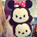 newest fashion 3d cute cartoon chocolate Minnie case bow cover lovely rubber cases for iPhone 5 5s 6 6s 7 plus 4.7 5.5 inch