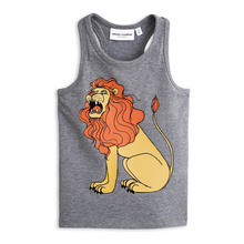 Bobo Choses 2017 New Arrivals Brand Rodini Boys Tank 100% Cotton Lion Vest Top Heather Grey Melange High Quality 1-10 Years