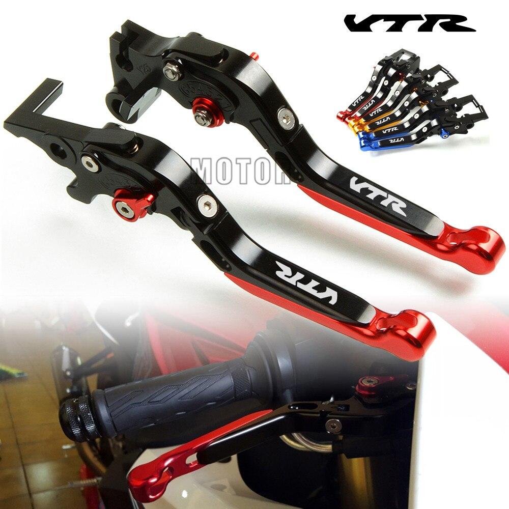 Motorcycle CNC Adjustable Folding Extendable Brake Clutch Levers For Honda VTR1000F/FIRESTORM 1998-2005 VTR1000 VTR 1000F 1000 F стоимость