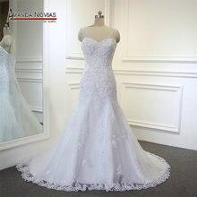 Maravilhoso cristal baixa volta sereia completa renda designer vestidos de casamento renda irlandesa