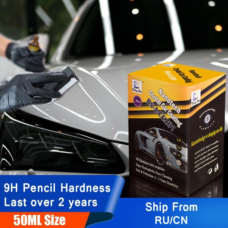 Estrela em ascensão RS-A-CCZ01 Vidro Líquido Nano Cerâmica Revestimento Hidrofóbico Revestimento Do Cuidado de Carro de Cristal Carro 50 ml Kit para profissionais
