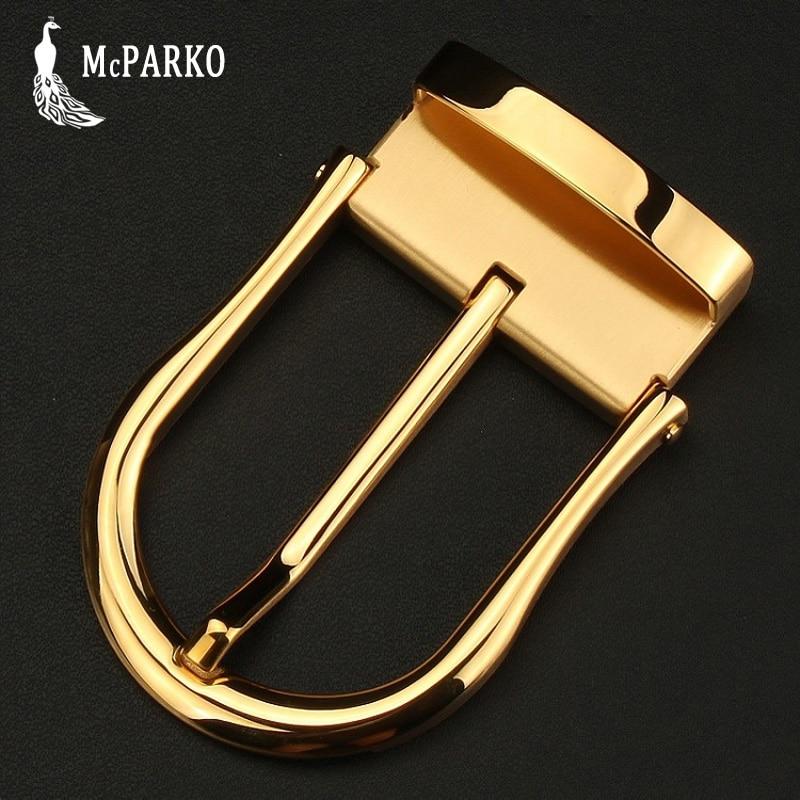 Luxury Metal Belt Buckle Accessories Stainless Steel Waist Belt Pin Buckle Without Belt Golden Sivler Inner Diameter 3.9cm 3.5cm