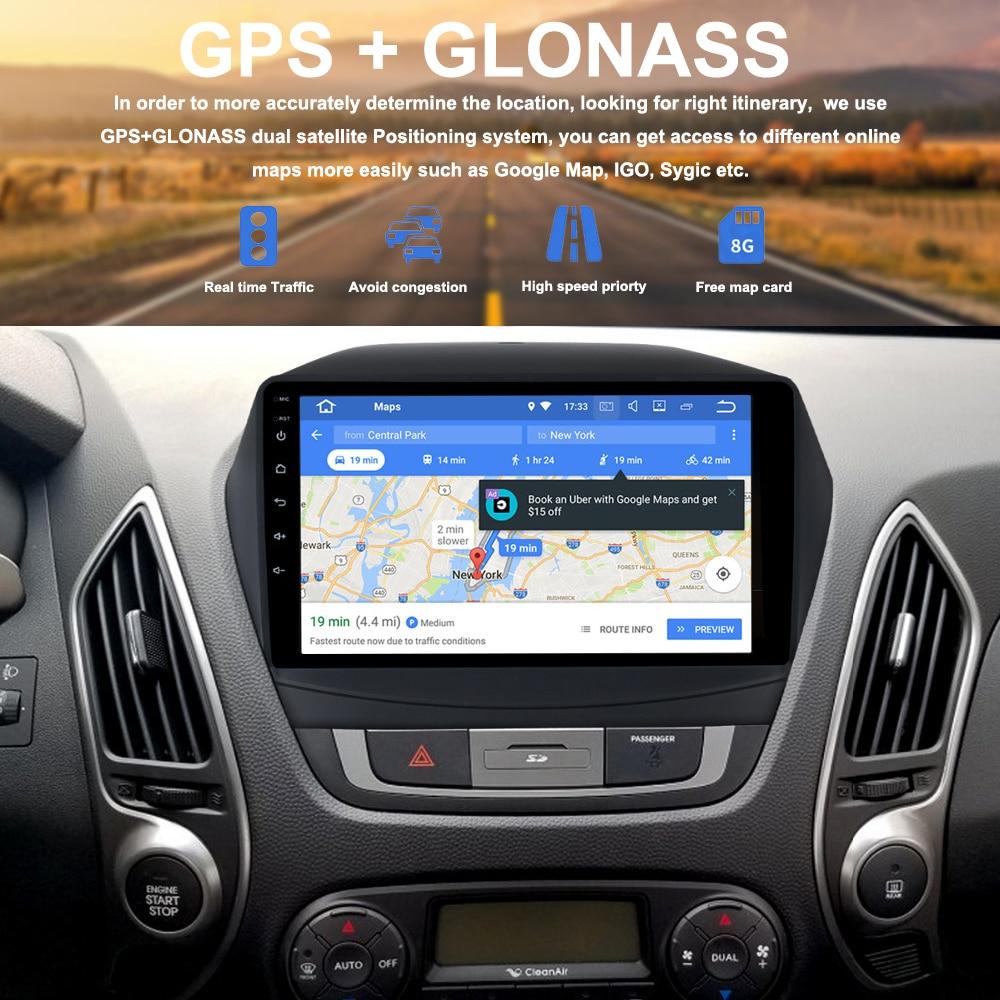 Автомобильный Мультимедийный Плеер 2 DIN для Hyundai IX35 2009-2015 Android 8.0 Восьмиядерный 4 г оперативной памяти 32 г ROM 2 DIN автомагнитолы с GPS Android