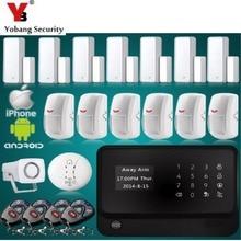 YobangSecurity GSM WiFi Alarm Safety System APP Door Sensor PIR Detector Smoke Alarm Sensor for House Safety Alarm System