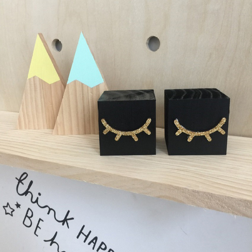 Home Decor Vendors: Aliexpress.com : Buy New Eyelashes Solid Wooden Ornament Scrapbooking Embellishments Square