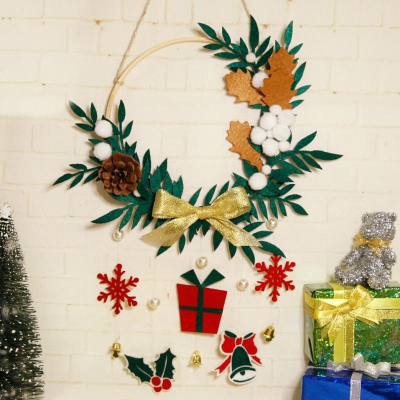 Christmas Theme Plants DIY Felt Applique Ornament Kit