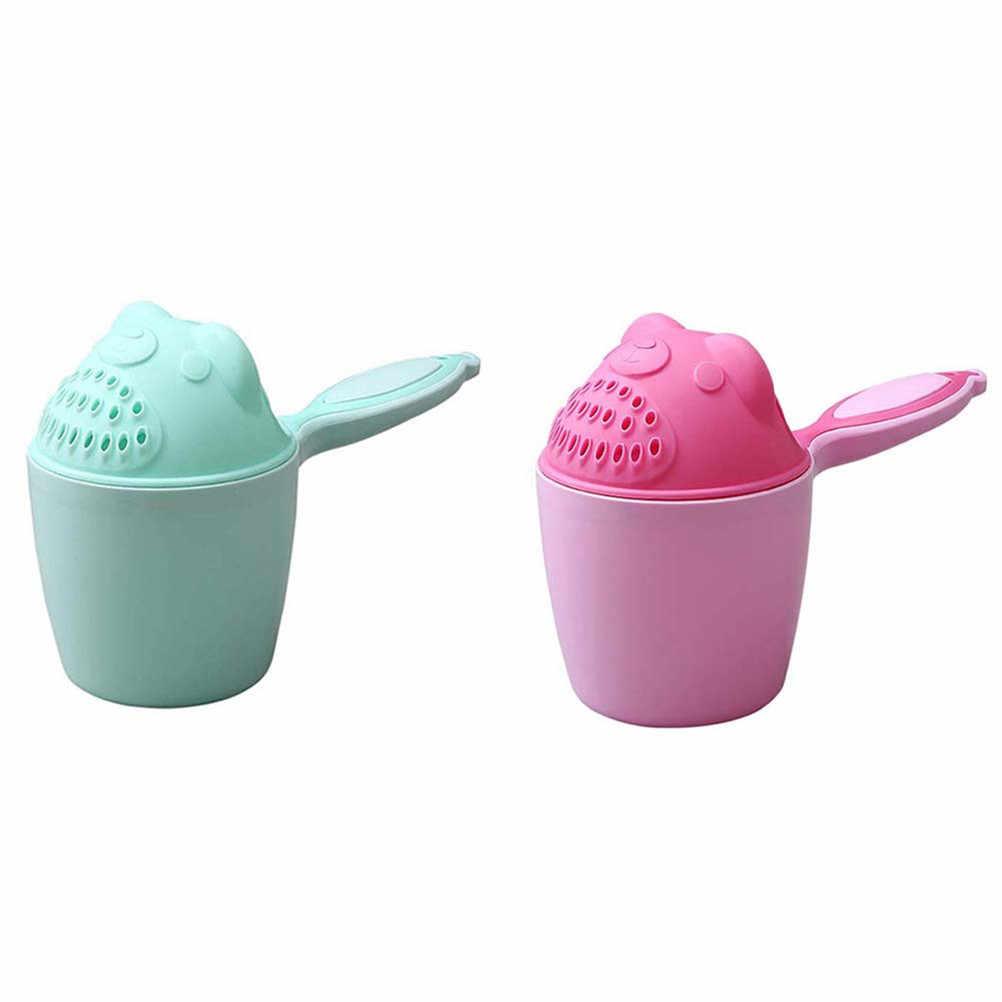 かわいい漫画ベビー風呂キャップよちよちシャンプーカップ子供入浴ベイラーベビーシャワースプーン子洗髪カップ子供ツール