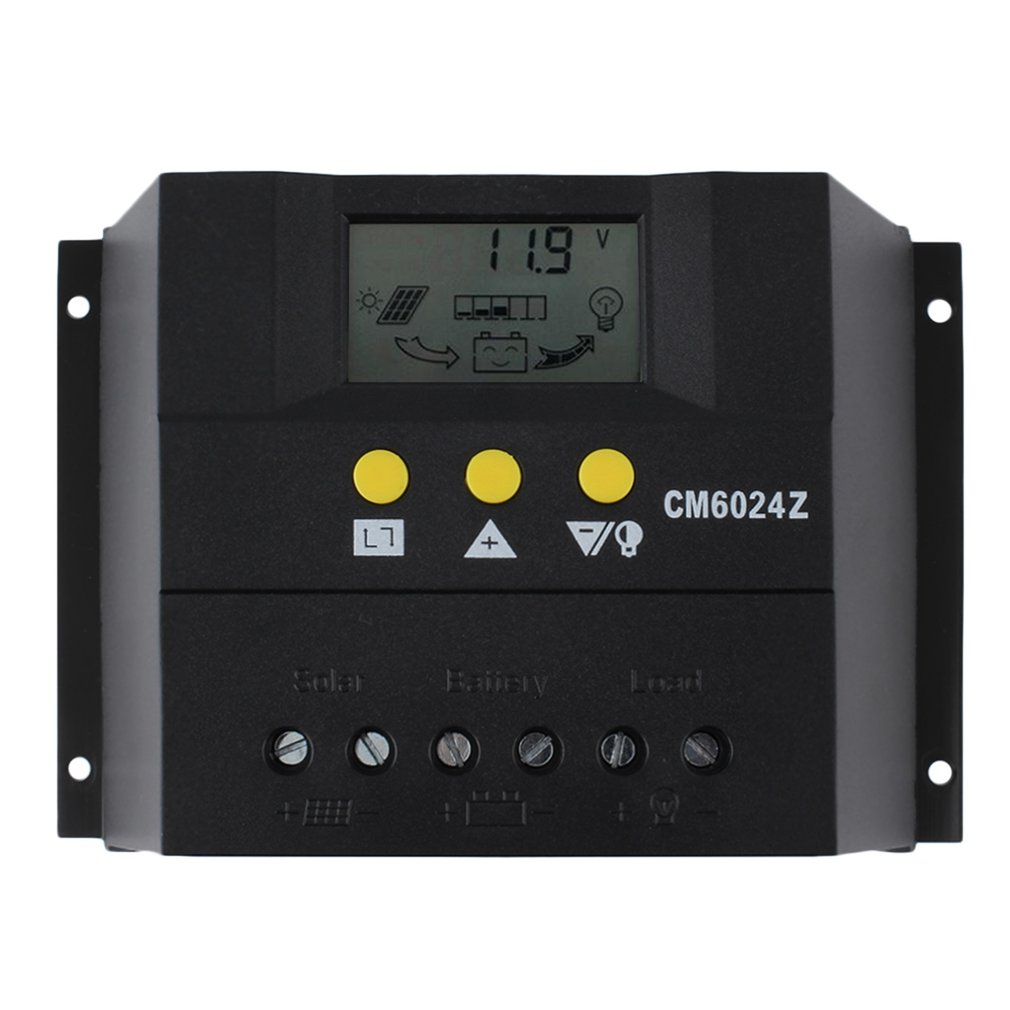 Solar System Controller Intelligent PWM Charge Mode 60A 12-24V Solar Charge Controller Solar Voltage Control free shipping 10pcs ob5269cp green high voltage mode pwm control 245