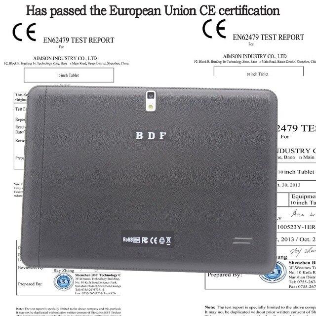 BDF 10 pouce D'origine 3G Android Comprimés Pc Appel Téléphonique Android Quad Core Android 4.4 CE Certification Tablet WiFi FM Bluetooth
