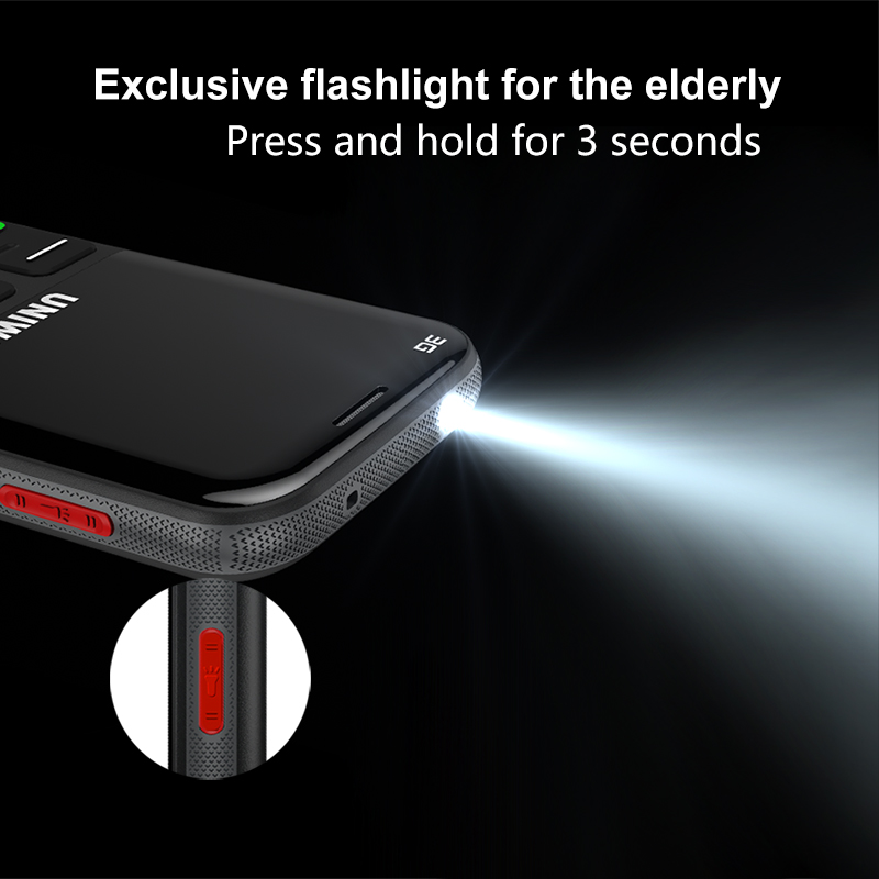 Old Man Mobile Phone 3G SOS Button 1400mAh 2.31 3D Curved Screen Cellphone Flashlight Torch Cell Phone For Elderly Uniwa V808G