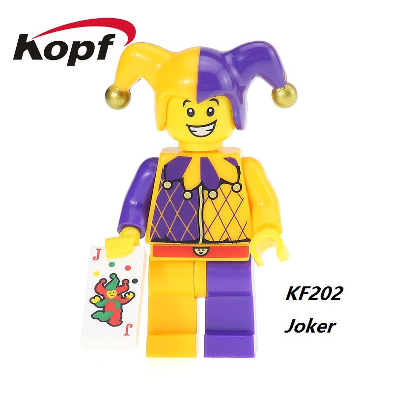 Super Heroes Joker Mr. Kentucky Marty McFly Skeletor He Man Bricks Action Figures Building Blocks Best Children Gift Toys KF202 building blocks super heroes back to the future doc brown and marty mcfly with skateboard wolverine toys for children gift kf197