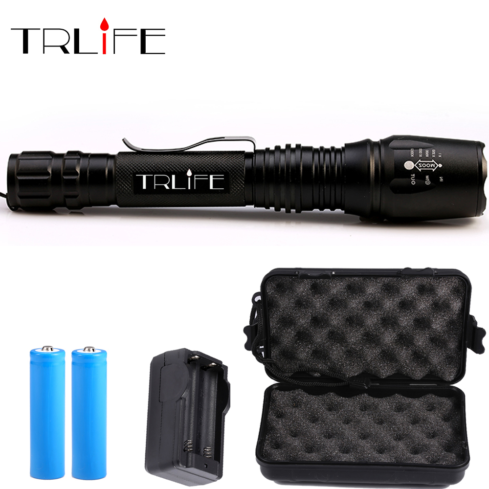 LED Flashlights X800 Torch 10000 lumens CREE XM-L2 T6 zoomable G700 led torch For camping hunting aluminum led flashlight