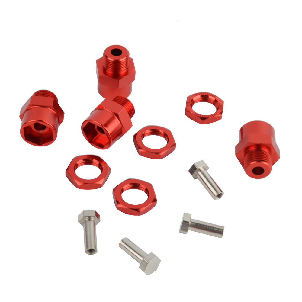 Image 2 - RCAIDONG 4PCS Aluminum Alloy 12mm To 17mm Wheel Hex Hub Conversion Adapter for 1/10 RC Car and Upgrade 1:8 tires-in Parts & Accessories from Toys & Hobbies