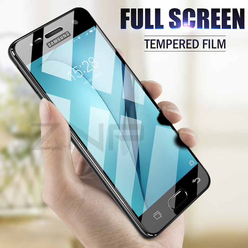 ZNP Full Cover Tempered Glass For Samsung Galaxy A3 A5 A7 2016 2017 Screen Protector For Samsung J5 J7 S7 2017 Protective Glass