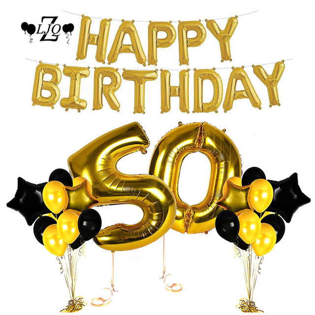 zljq 50th party birthday decorations includes happy birthday banner