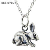 2018 New 925 Sterling Silver Cute Little Rabbit Necklaces & Pendants For Women Original Girl Gift Sterling silver jewelry