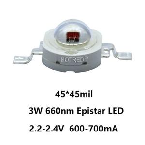 Image 3 - 100 Uds. 660nm 3W42mil 2,4 V 700mA EPILEDS rojo profundo diodos de cultivo de plantas LED parte de luz