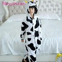 Mengshufen Pajamas Set Children Cow Sleepwear Set Flannel Nightgown Winter Funny Unsiex Pyjamas Cartoon Warm Cute